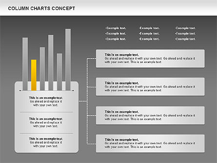 Column Chart Concept, Slide 16, 01089, Graph Charts — PoweredTemplate.com