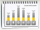 Graph Charts: Column Chart Concept #01089