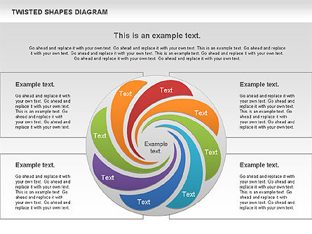 Twisted Shapes Diagram, 01090, Shapes — PoweredTemplate.com