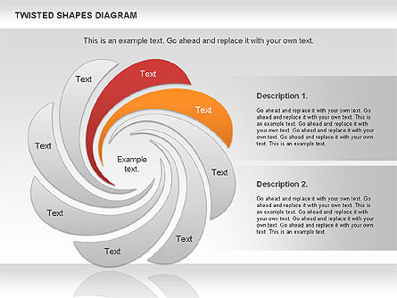 Twisted Shapes Diagram, Slide 2, 01090, Shapes — PoweredTemplate.com