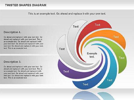 Twisted Shapes Diagram, Slide 4, 01090, Shapes — PoweredTemplate.com