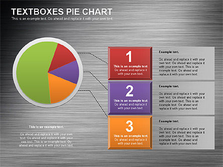 Textboxes Pie Chart, Slide 11, 01091, Pie Charts — PoweredTemplate.com