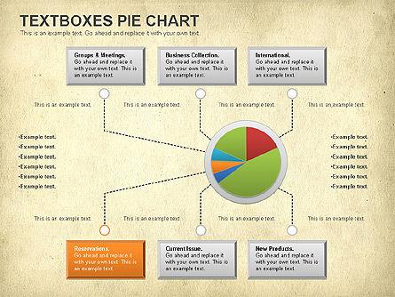 Textboxes Pie Chart, Slide 15, 01091, Pie Charts — PoweredTemplate.com