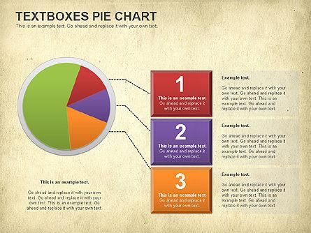 Textboxes Pie Chart, Slide 16, 01091, Pie Charts — PoweredTemplate.com