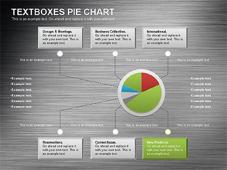 Textboxes Pie Chart, Slide 5, 01091, Pie Charts — PoweredTemplate.com