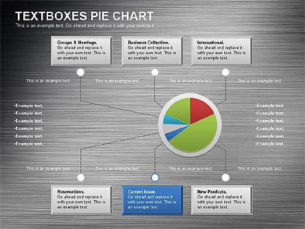 Textboxes Pie Chart, Slide 6, 01091, Pie Charts — PoweredTemplate.com