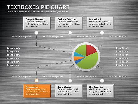 Textboxes Pie Chart, Slide 7, 01091, Pie Charts — PoweredTemplate.com