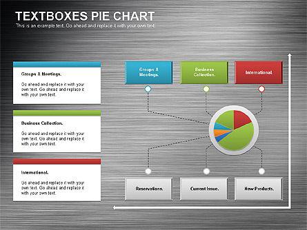 Textboxes Pie Chart, Slide 8, 01091, Pie Charts — PoweredTemplate.com