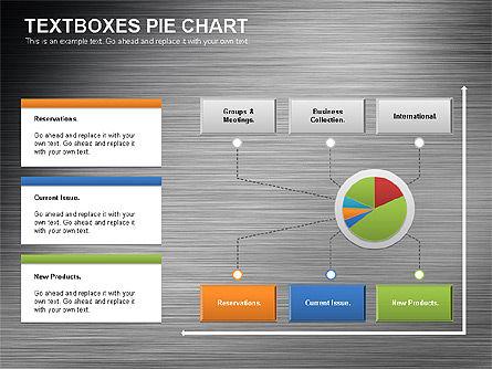 Textboxes Pie Chart, Slide 9, 01091, Pie Charts — PoweredTemplate.com