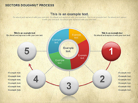 Sectors Doughnut Process Diagram  , 01092, Process Diagrams — PoweredTemplate.com