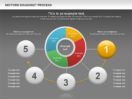 Sectors Doughnut Process Diagram  , Slide 12, 01092, Process Diagrams — PoweredTemplate.com