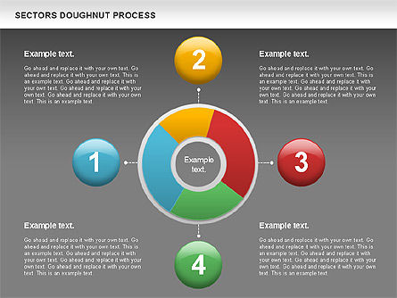Sectors Doughnut Process Diagram  , Slide 16, 01092, Process Diagrams — PoweredTemplate.com