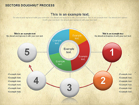 Sectors Doughnut Process Diagram  , Slide 2, 01092, Process Diagrams — PoweredTemplate.com