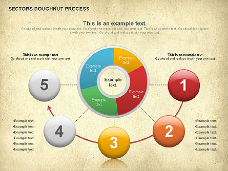 Sectors Doughnut Process Diagram  , Slide 3, 01092, Process Diagrams — PoweredTemplate.com