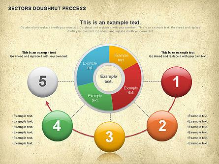 Sectors Doughnut Process Diagram  , Slide 4, 01092, Process Diagrams — PoweredTemplate.com