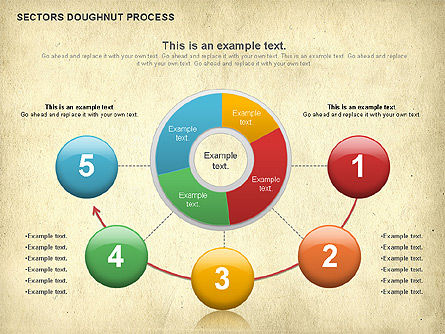 Sectors Doughnut Process Diagram  , Slide 5, 01092, Process Diagrams — PoweredTemplate.com