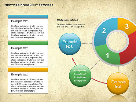 Sectors Doughnut Process Diagram  , Slide 7, 01092, Process Diagrams — PoweredTemplate.com