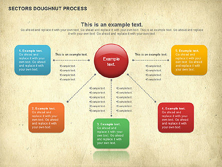 Sectors Doughnut Process Diagram  , Slide 8, 01092, Process Diagrams — PoweredTemplate.com