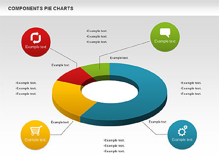 Donut Chart, 01095, Pie Charts — PoweredTemplate.com