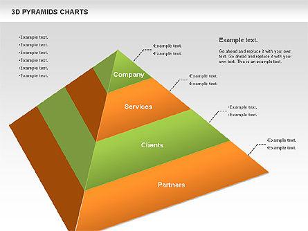 3D Pyramid Chart, Slide 10, 01096, Business Models — PoweredTemplate.com