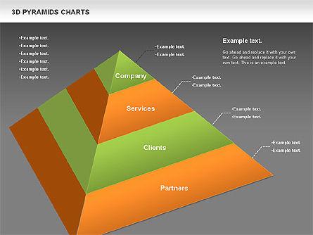 3D Pyramid Chart, Slide 16, 01096, Business Models — PoweredTemplate.com