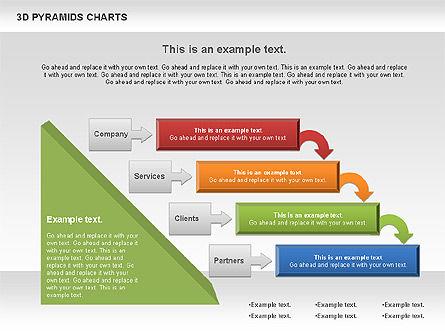 3D Pyramid Chart, Slide 2, 01096, Business Models — PoweredTemplate.com