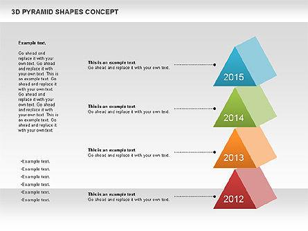 3D Pyramid Shapes, Slide 10, 01098, Business Models — PoweredTemplate.com