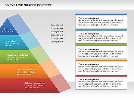 3D Pyramid Shapes, Slide 11, 01098, Business Models — PoweredTemplate.com