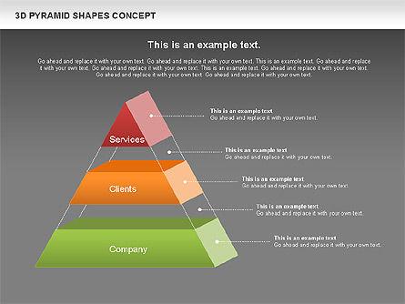 3D Pyramid Shapes, Slide 12, 01098, Business Models — PoweredTemplate.com