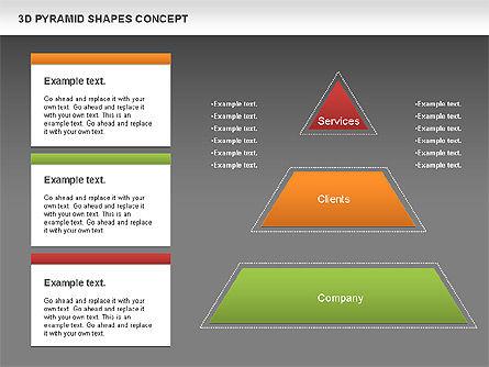 3D Pyramid Shapes, Slide 13, 01098, Business Models — PoweredTemplate.com