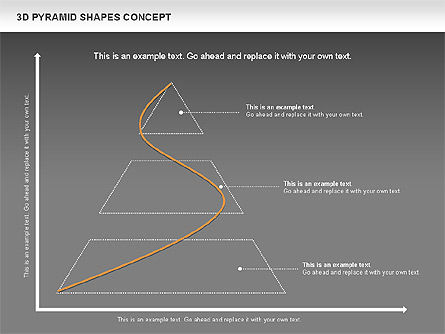 3D Pyramid Shapes, Slide 14, 01098, Business Models — PoweredTemplate.com