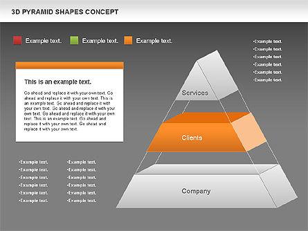 3D Pyramid Shapes, Slide 15, 01098, Business Models — PoweredTemplate.com