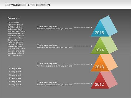3D Pyramid Shapes, Slide 16, 01098, Business Models — PoweredTemplate.com
