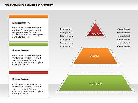 3D Pyramid Shapes, Slide 2, 01098, Business Models — PoweredTemplate.com
