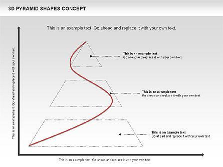 3D Pyramid Shapes, Slide 3, 01098, Business Models — PoweredTemplate.com