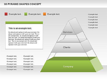 3D Pyramid Shapes, Slide 4, 01098, Business Models — PoweredTemplate.com