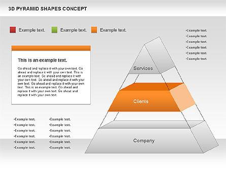 3D Pyramid Shapes, Slide 5, 01098, Business Models — PoweredTemplate.com