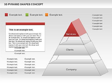 3D Pyramid Shapes, Slide 6, 01098, Business Models — PoweredTemplate.com