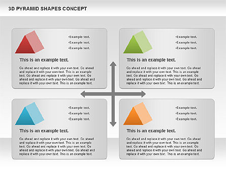 3D Pyramid Shapes, Slide 7, 01098, Business Models — PoweredTemplate.com