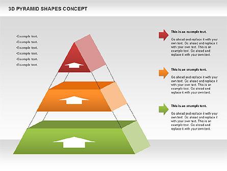 3D Pyramid Shapes, Slide 8, 01098, Business Models — PoweredTemplate.com