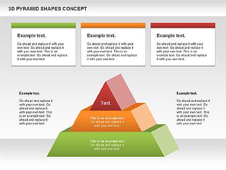 3D Pyramid Shapes, Slide 9, 01098, Business Models — PoweredTemplate.com