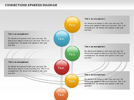 Connected Spheres Diagram, Slide 10, 01100, Business Models — PoweredTemplate.com
