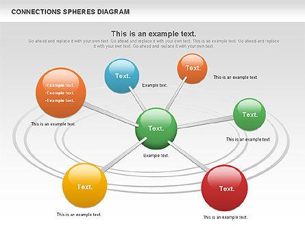 Connected Spheres Diagram, Slide 11, 01100, Business Models — PoweredTemplate.com