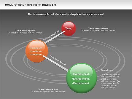 Connected Spheres Diagram, Slide 13, 01100, Business Models — PoweredTemplate.com