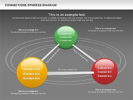 Connected Spheres Diagram, Slide 16, 01100, Business Models — PoweredTemplate.com