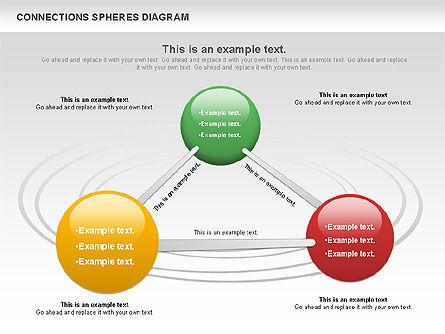 Connected Spheres Diagram, Slide 5, 01100, Business Models — PoweredTemplate.com