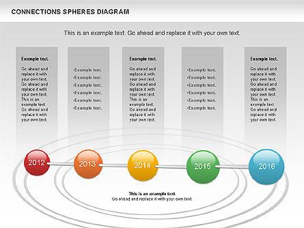 Connected Spheres Diagram, Slide 6, 01100, Business Models — PoweredTemplate.com