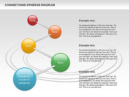 Connected Spheres Diagram, Slide 8, 01100, Business Models — PoweredTemplate.com