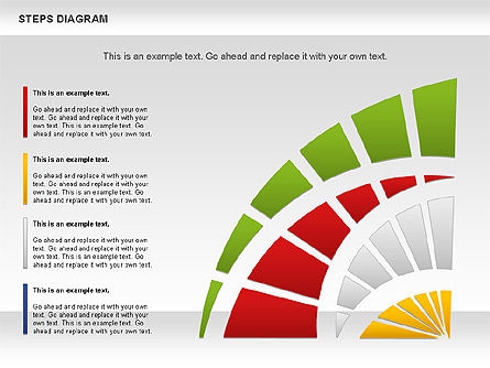 Color Stages Diagram, 01103, Stage Diagrams — PoweredTemplate.com