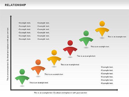 Relationship Diagram, Slide 10, 01104, Business Models — PoweredTemplate.com